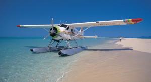 seaplane Queensland beach