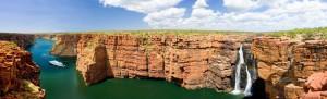 Kimberley waterfalls cruise ship